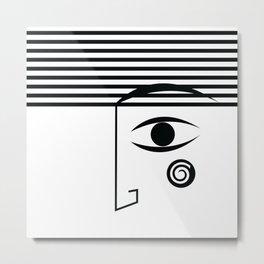 Line face Metal Print