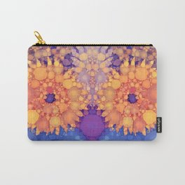 Vintage Flowers in the rain Carry-All Pouch