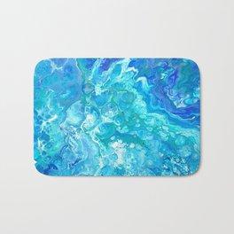 Aqua Ocean Blue Bath Mat