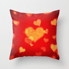 st. valentine heart shape background Throw Pillow