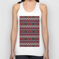 Navajo blanket pattern- red Unisex Tank Top