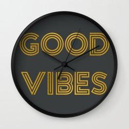 Good Vibes (Dark Gray) Wall Clock