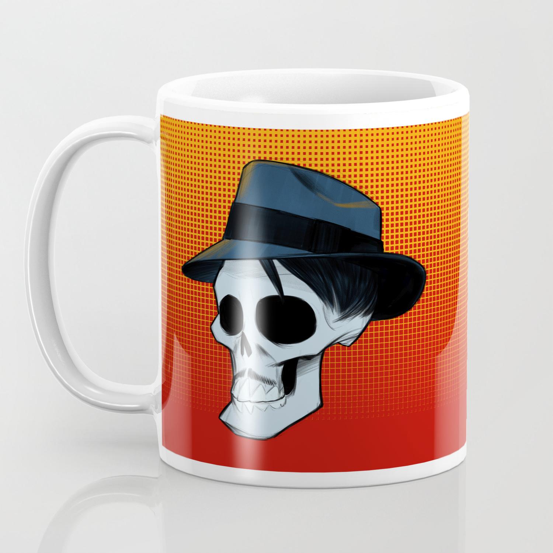 a593c8cd8 Ricky Fedora Skull in Color Coffee Mug