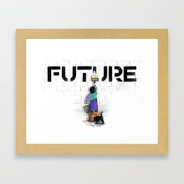 No Future Framed Art Print