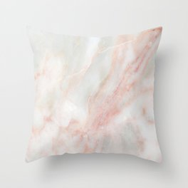 Softest blush pink marble Throw Pillow