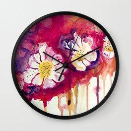 Tres Floras Wall Clock