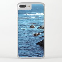 Pacific Blue Clear iPhone Case