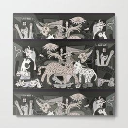 Guernicats Metal Print