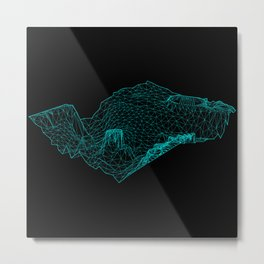 San Francisco Bay Bathymetry Metal Print