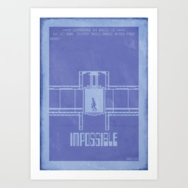 Retrogaming - Impossible mission Art Print