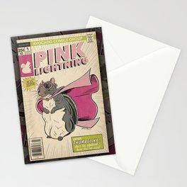 Little Thumbelina Girl: Pink Lightning Stationery Cards