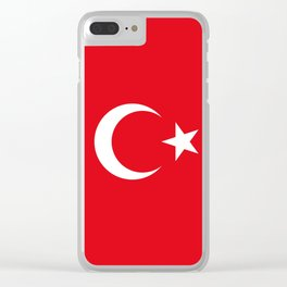 Flag of Turkey, High Quality Clear iPhone Case