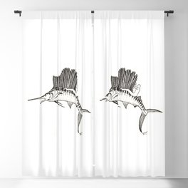 Surfing the fish Blackout Curtain