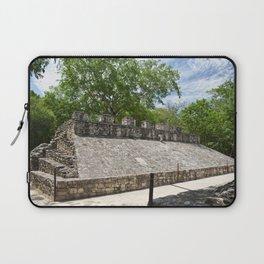 Coba Ball Court Mexico Mexican Maya Mayan Quintana Roo Temple Historical Laptop Sleeve