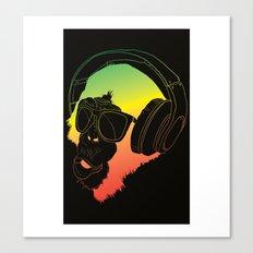 Jamin' Chimpanzie  Canvas Print