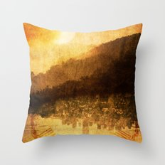 The Last Moment of Light Throw Pillow