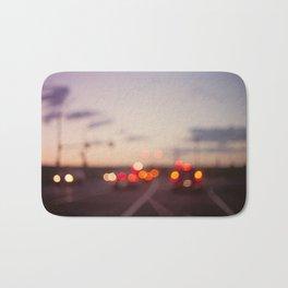 highway at dusk Bath Mat