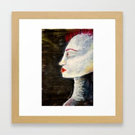 pale with mohawk  Framed Art Print