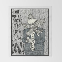 United States of the Upside Down Throw Blanket