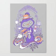 Tea Monkey Tea Party Canvas Print
