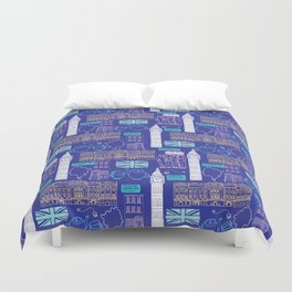 Queen and Country - Blue Duvet Cover