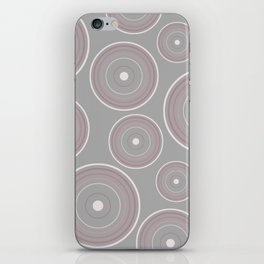 CONCENTRIC CIRCLES IN GREY (abstract pattern) iPhone Skin