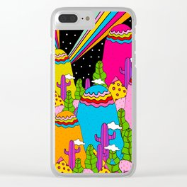 Night Sky Rainbows Clear iPhone Case