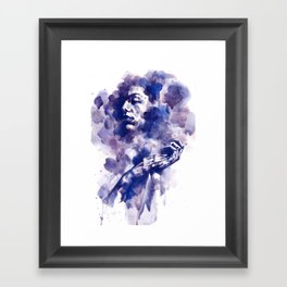 Study in Blue Framed Art Print