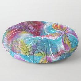 Blossom Like a Butterfly | Mimi Bondi Floor Pillow