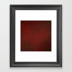 Adorable design for girls- Small gold dots on red backround Framed Art Print