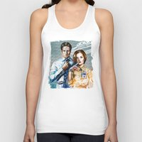 mulder Tank Tops featuring Mulder and Scully by Tatiana Anor