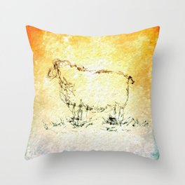 Draw me a sheep Throw Pillow