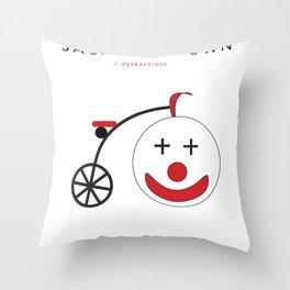 JackAss Clown Throw Pillow