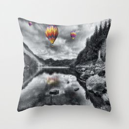 Above The Lake Throw Pillow