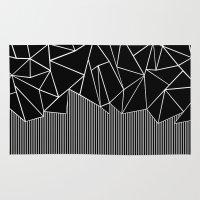 Ab Lines Black Rug