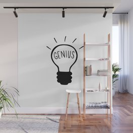Light bulb in black and white Wall Mural