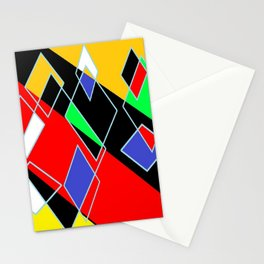 Abstract geo mult Stationery Cards