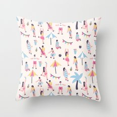 The Summer Party Throw Pillow