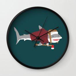 Shark LumberJack Wall Clock