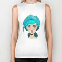 turquoise Biker Tanks featuring Turquoise by Hingy Art