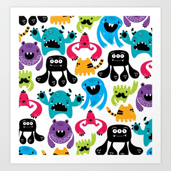 Monster pattern Art Print