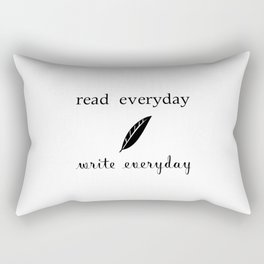 Read Write Everyday Rectangular Pillow