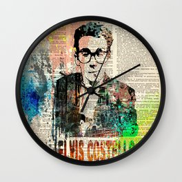 ELVIS COSTELLO #on dictionary page Wall Clock