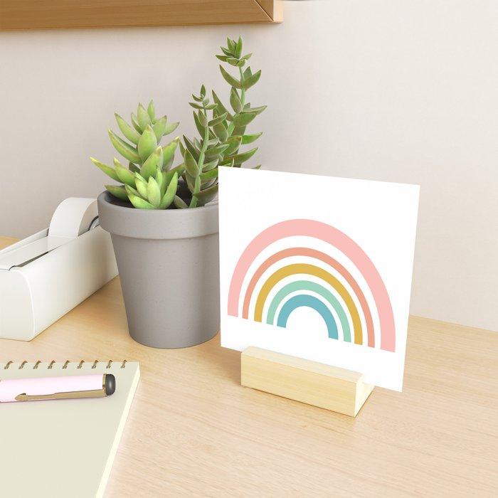 Simple Happy Rainbow Art Mini Art Print