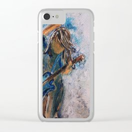 rock and roll goddess Clear iPhone Case