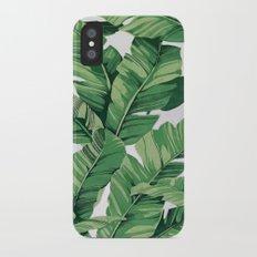 Tropical banana leaves VI iPhone X Slim Case