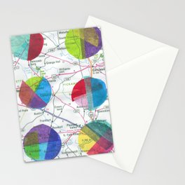 Dots on a Map Stationery Cards