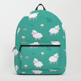 Calm sheep pattern Backpack