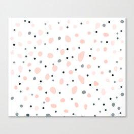 Pastel Blossoms Dreamy Pink Pretty Pattern Canvas Print