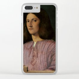 """Giorgione """"Portrait of a Young Man ('Giustiniani Portrait')"""" Clear iPhone Case"""